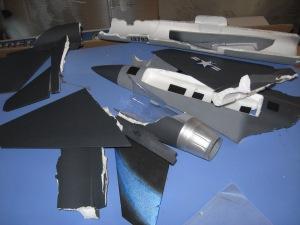 Demolished Jet