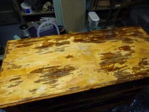 Dresser Top After First Stripping