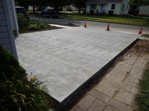 Driveway Day 3 Concrete Pad