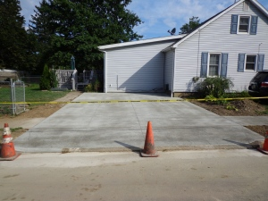 Driveway Day 3 Concrete!