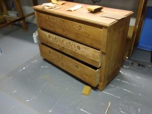Dresser After Lots of Sanding 11-1-13