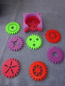 3D Printed Gear Coasters