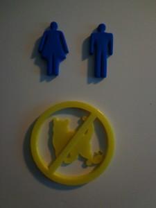 Bathroom Door Symbols