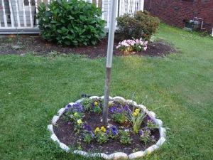 Flag Pole Garden 6-27-14