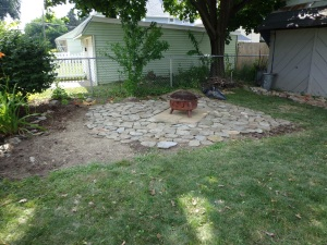 Paved Fire Pit Area 7-26-14  2