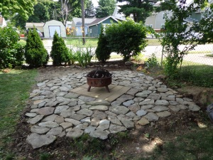 Paved Fire Pit Area 7-26-14