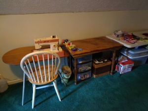 Sewing Table area