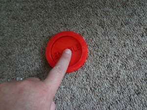 3D Printed Enable Button Pressed