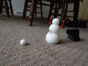 3D Printed Snowman and Cannon