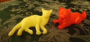 3D Printed Lounging Cats