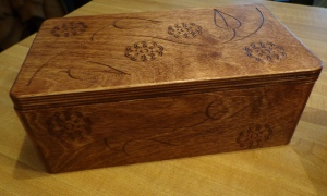 CNC Jewelry Box Stained 2
