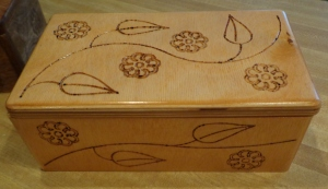 CNC Jewelry Box Stained 3