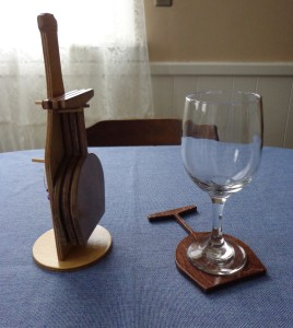 CNC Wine Coaster Set 3