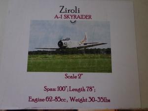 Ziroli A-1 Skyraider Kit
