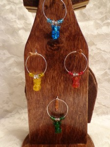 Gummy Bear Wine Glass Charms