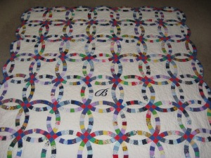 My Dbl Wedding Ring Quilt
