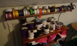 Large Spool Rack Filled