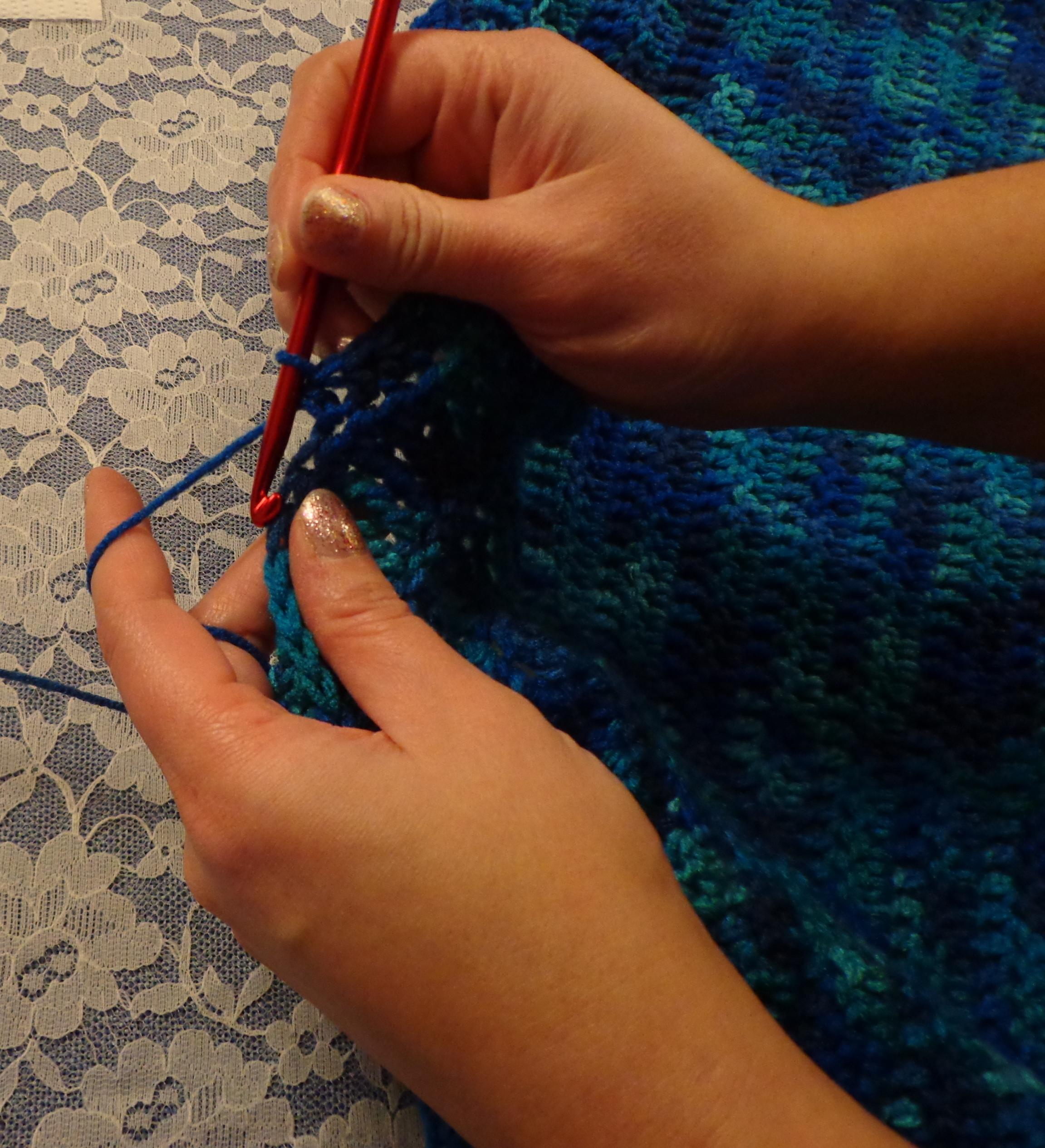 Crocheting Finger Position 1-24-16