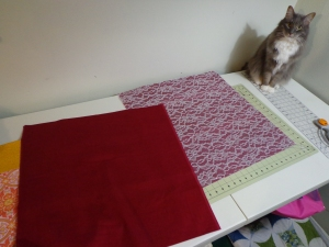 Karen's Pillow - Cut Lace Piece
