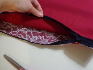 Karen's Pillow - Open Zipper before Sewing