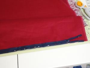 Karen's Pillow - Sew Zipper to First Side