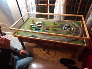 Cleaning up the Train Table - 3-17-16