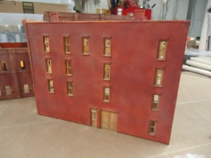 N Scale Structures - Back of Hotel - 5-16-16