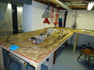 Train Layout - Bench 3 4-7-16