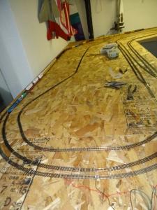 Train Layout - Inside Loop - 4-14-16