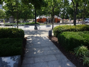 Barricaded in Centennial Park - 5-26-16