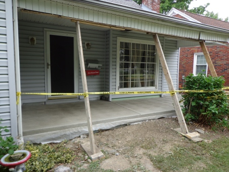 Front Porch - New Concrete - 6-3-16
