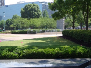 More Barricades - Centennial Park - 5-26-16