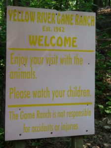 Animal Park Welcome Sign - 5-27-16