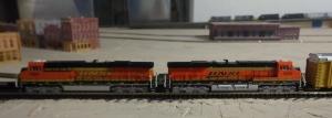 Train Show - N Scale BNSF Engines - 7-16-16