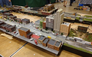 Train Show - N Scale City Display - 7-16-16