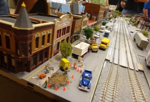 Train Show - N Scale City Street - 7-16-16