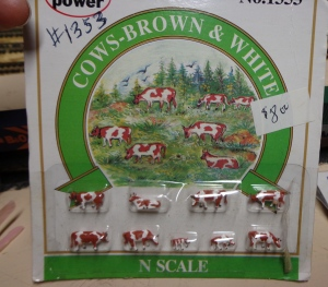 Train Show - N Scale Cows - 7-16-16