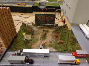 Train Show - N Scale Dilapidated Drive-In - 7-16-16