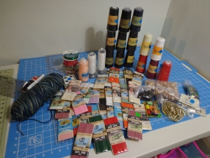 Contents of Box of Sewing Stuff