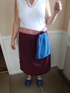 Maroon Apron with Towel Ring - 7-28-16