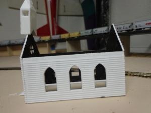 N Scale 3D Printed Church - Side 7-26-16