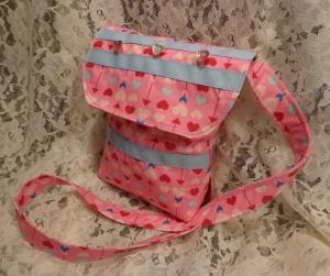 Pink Hearts Girl Purse - 7-28-16