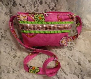 Pink Sequins Girl Purse 2 - 7-28-16