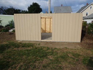 Shed East Wall 8-13-16