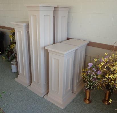 Finished Pedestals 4-12-17