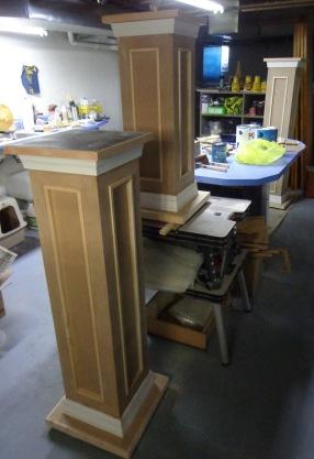 Pedestals in Basement