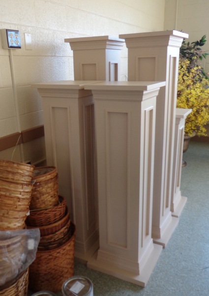 Pedestals - Tea with Cream Color