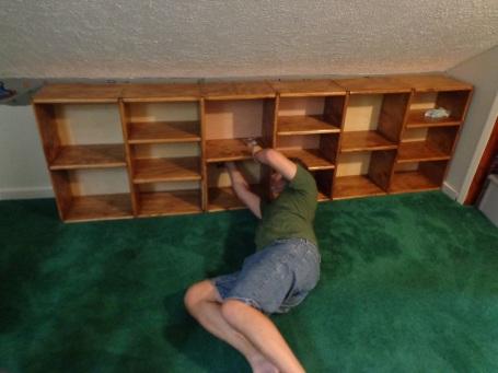 Sewing Room - Installing Shelves