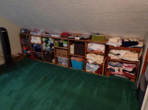 Sewing Room - Shelves Filled