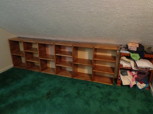 Sewing Room - Shelves Installed